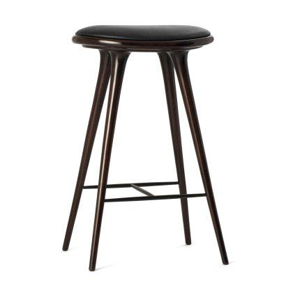 Dark Stained Beech Stool Image
