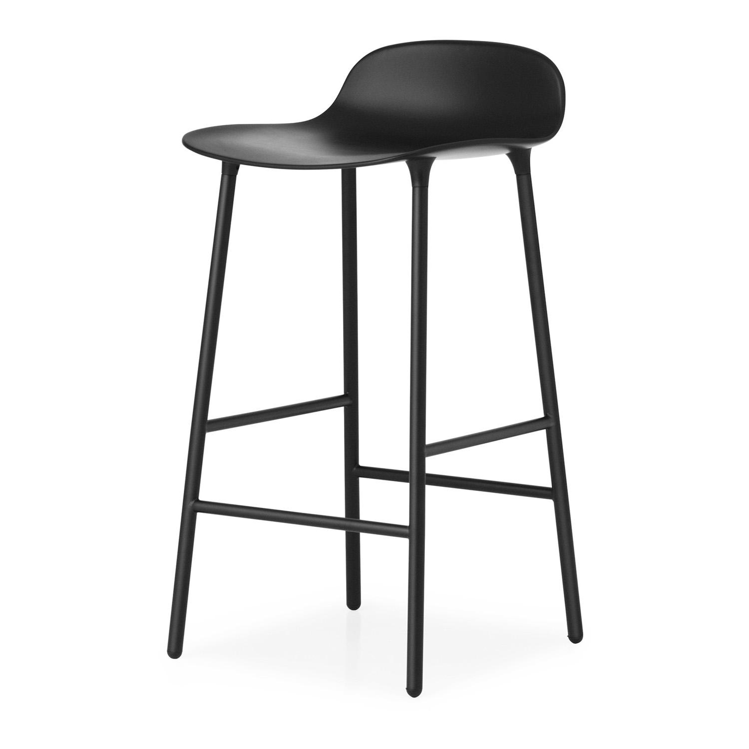 Marvelous Form Barstool 65 Cm Metal Base Creativecarmelina Interior Chair Design Creativecarmelinacom