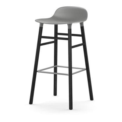 Form Barstool 75 cm Wood Base Image