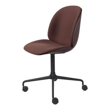 Beetle Meeting Chair - Front Upholstered Four Star Base with Castors Image
