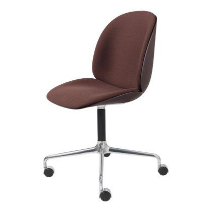 Beetle Meeting Chair - Front Upholstered Four Star Aluminum Base with Castors Image