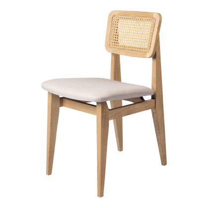C-Chair Dining Chair - Seat Upholstered, French Cane Back Image