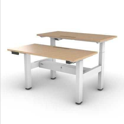 Foundation Sit-Stand Double Desk Image