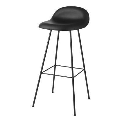Gubi 3D Bar Stool - Center Base Front Upholstered Image