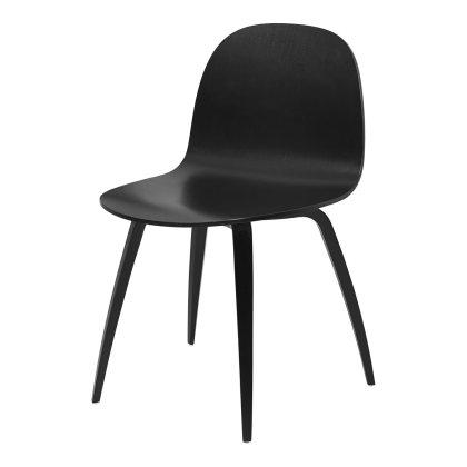 Gubi 2D Dining Chair - Wood Base Image
