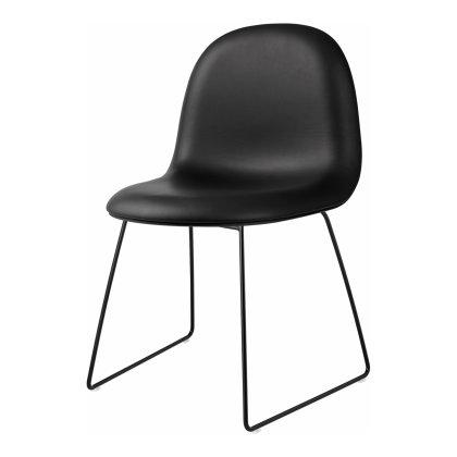 Gubi 3D Dining Chair - Sledge Base Front Upholstered Image