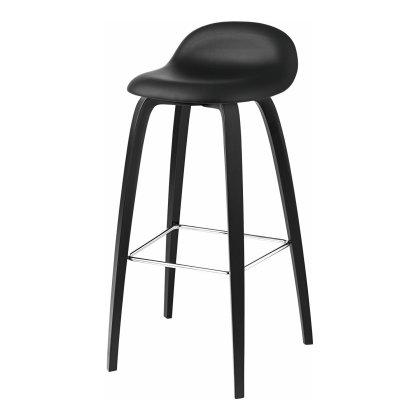 Gubi 3D Bar Stool - Wood Base Fully Upholstered Image
