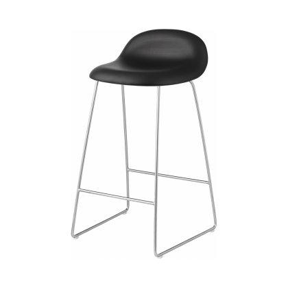 Gubi 3D Counter Stool - Sledge Base Front Upholstered Image