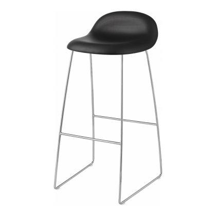 Gubi 3D Bar Stool - Sledge Base Front Upholstered Image