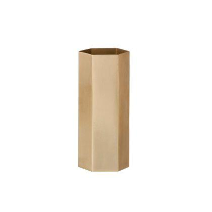 Brass Hexagon Vase Image