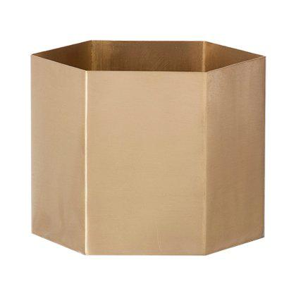 Brass Hexagon Pot Image