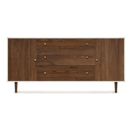 MiMo 3 Drawer Dresser with Flanked Doors Image