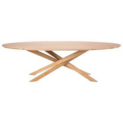 Oak Mikado Dining Table Oval Image