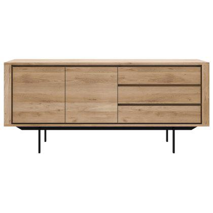 Oak Shadow Sideboard - 2 doors, 3 drawers Image