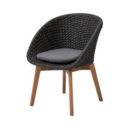 Peacock Dining Chair, Teak Legs Image