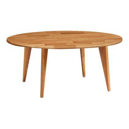 Essentials Round Coffee Table - Wood Legs Image