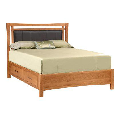 Monterey Bed with Storage and Upholstered Headboard Image
