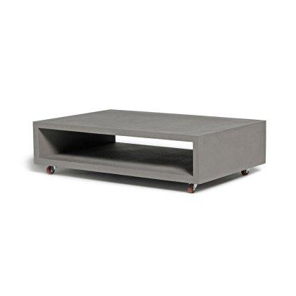 Monobloc Rectangular Coffee Table with Wheels Image