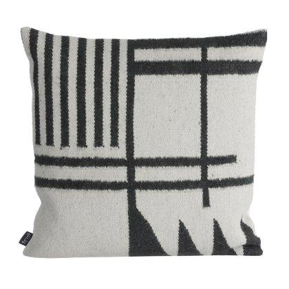 Kelim Black Lines Pillow Image