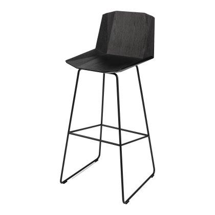 Oak Facette Bar Stool - Black Image
