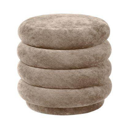 Pouf Round - Faded Velvet - Small Image