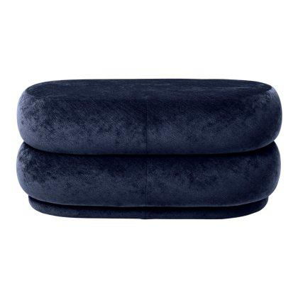 Pouf Oval - Faded Velvet - Medium Image