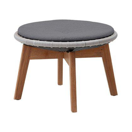 Peacock Footstool / Side Table, Cane-line Weave Image
