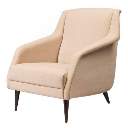CDC.1 Lounge - Chair Fully Upholstered, Wood Base Image