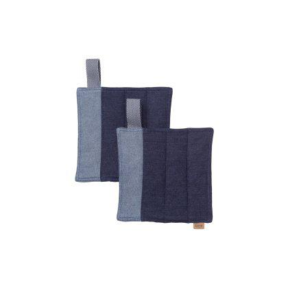 Denim Pot Holders - Set Of 2 Image