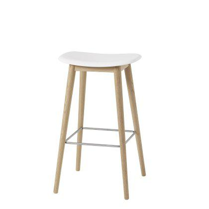Fiber Bar Stool Wood Base Image