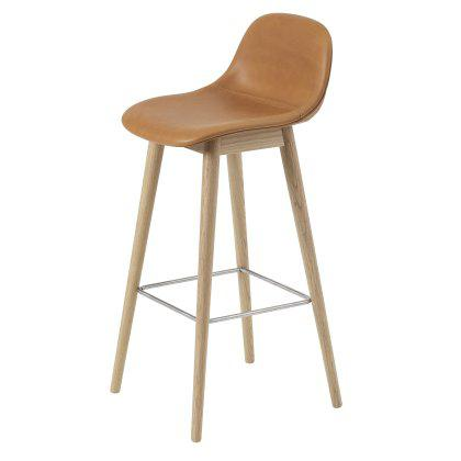 Fiber Bar Stool Wood Base W. Backrest Image
