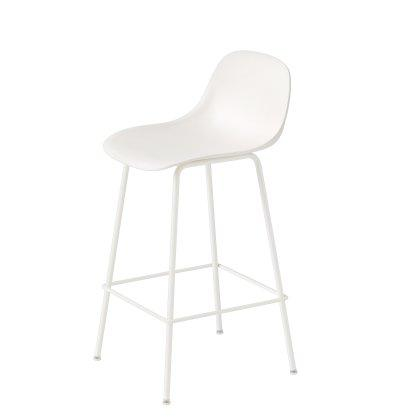 Fiber Counter Stool Tube Base W. Backrest Image