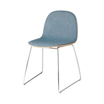 Gubi 2D Dining Chair - Sledge Base Front Upholstered Image