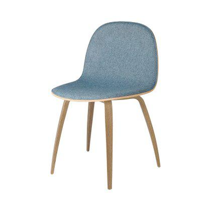Gubi 2D Dining Chair - Wood Base Front Upholstered Image