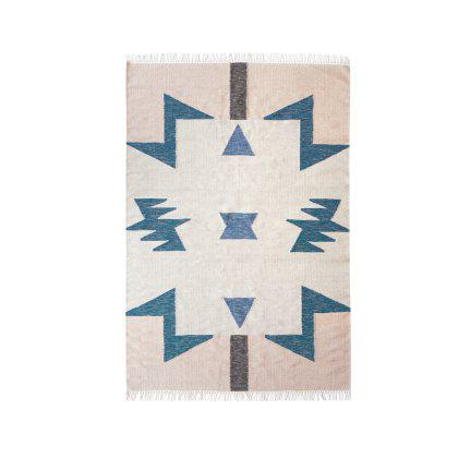 Kelim Blue Triangles Rug Image