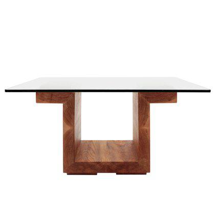 SQG 28 Square Glass Top Table Image