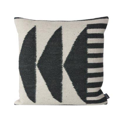 Kelim Black Triangles Pillow Image