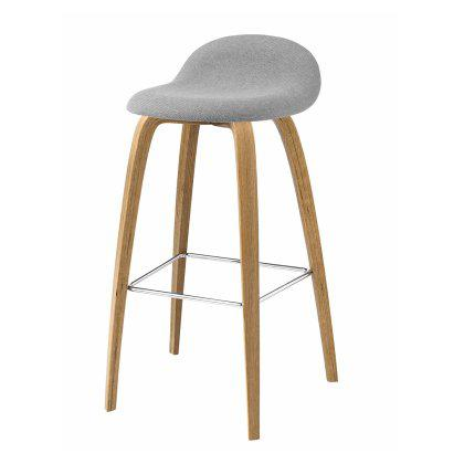 Gubi 3D Counter Stool - Wood Base Fully Upholstered Image