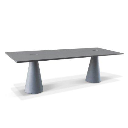 Rectangular Double Locking Concrete Dining Table Image
