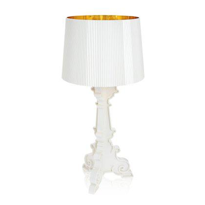 Bourgie Table Lamp - White and Gold Image