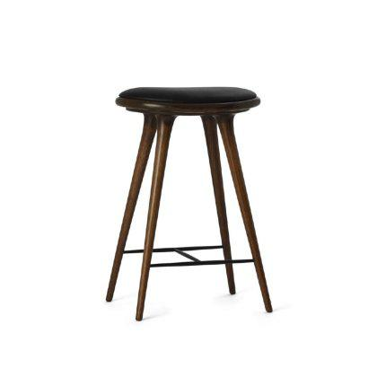 Dark Stained Oak Stool Image