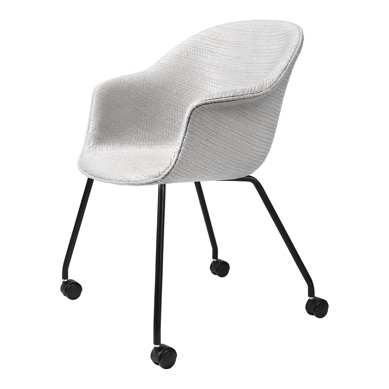 Bat Meeting Chair Fully Upholstered With Castor Gubi Rypen