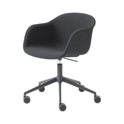 Fiber Armchair Swivel Base with Castors & Gas Lift Image